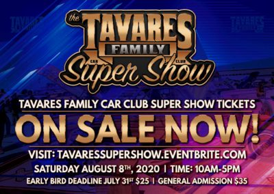 Tavares Tickets Now on Sale 2-9-2020